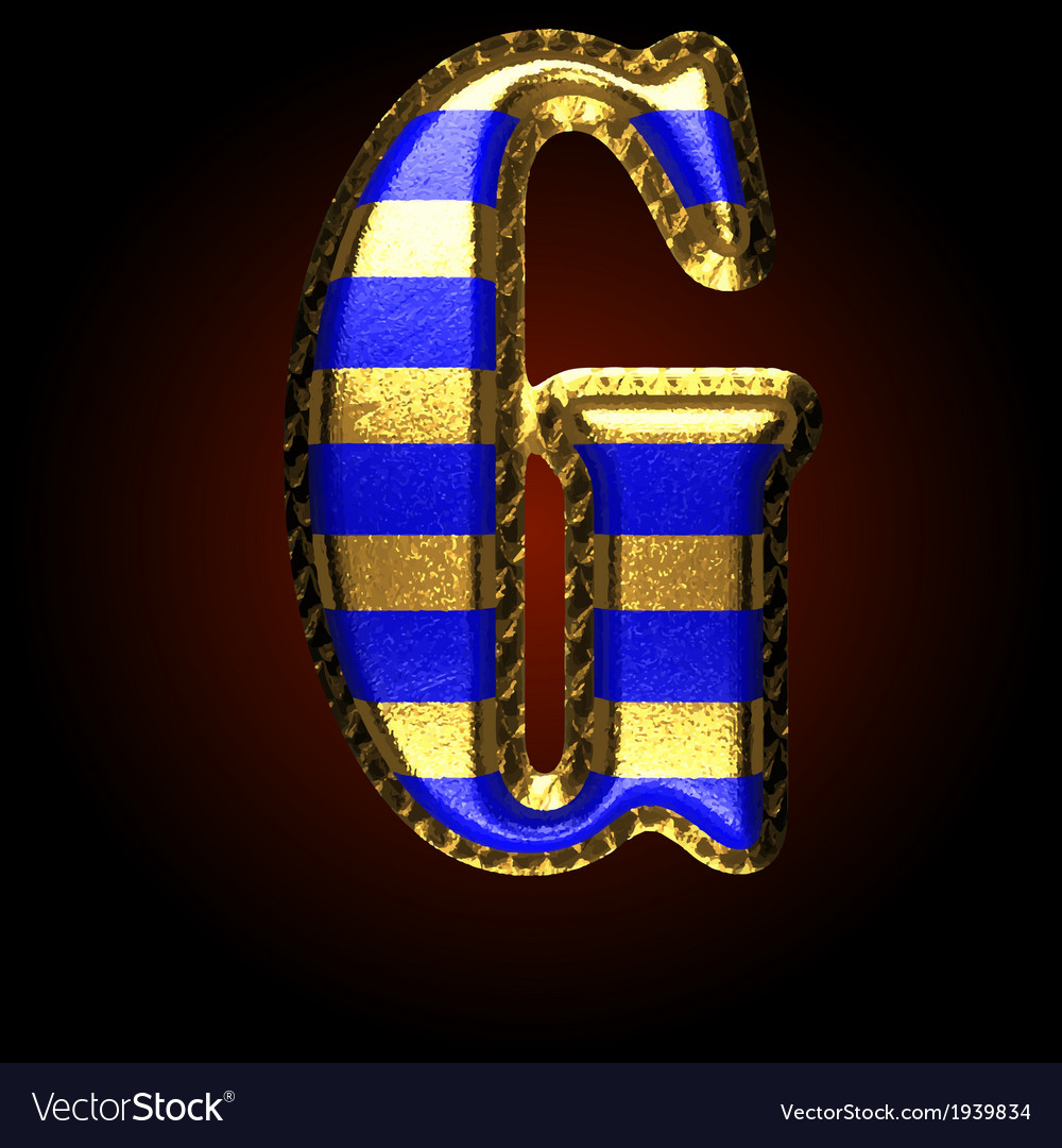 Golden and blue letter g vector | Price: 1 Credit (USD $1)
