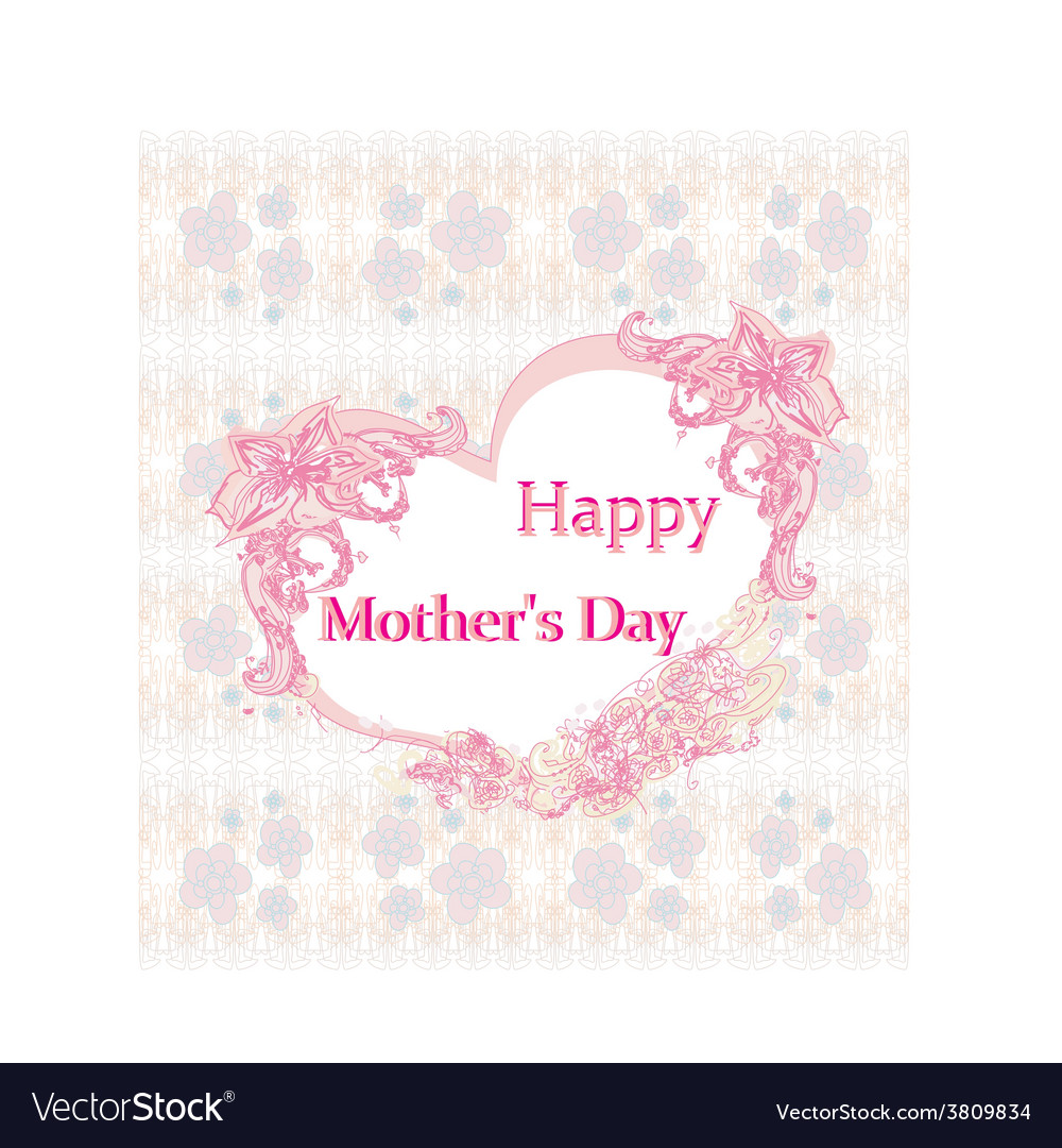 Happy mothers day - lovely greeting card vector | Price: 1 Credit (USD $1)