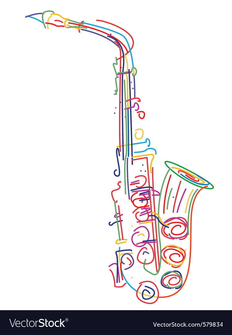 Neon saxophone vector | Price: 1 Credit (USD $1)