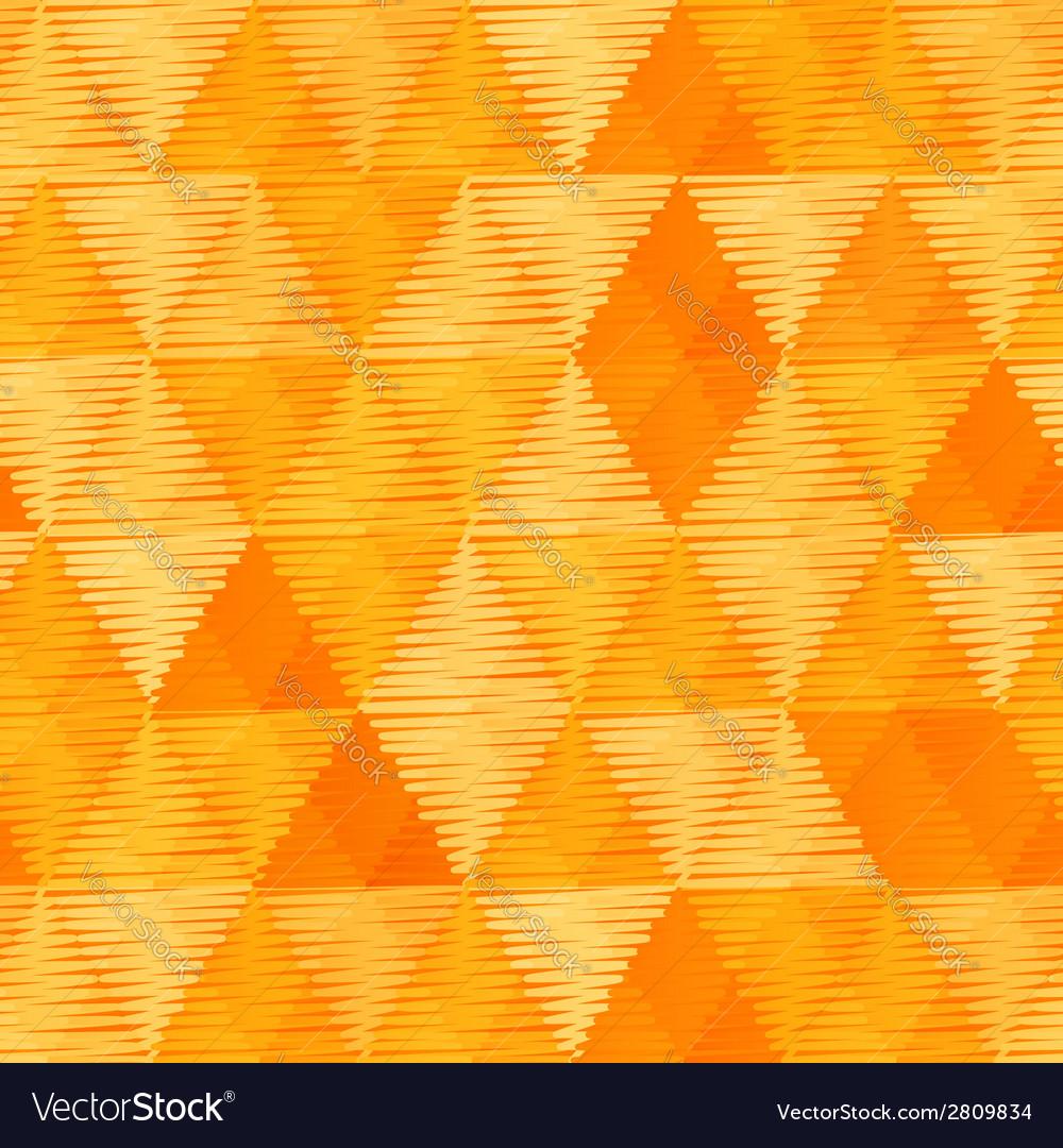 Orange vintage textile triangles seamless pattern vector | Price: 1 Credit (USD $1)
