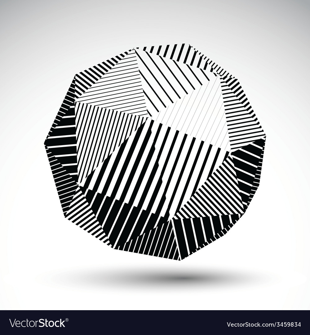 Symmetric spherical technology object with vector | Price: 1 Credit (USD $1)