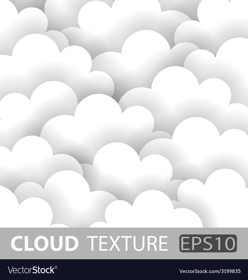 Abstract white cloud paper background vector | Price: 1 Credit (USD $1)