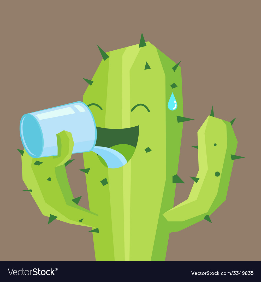 Cactus drink vector | Price: 3 Credit (USD $3)
