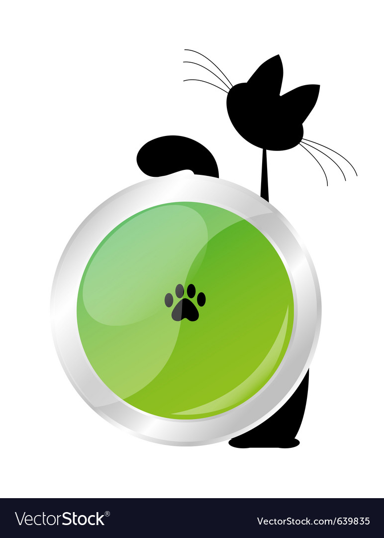 Cat button vector | Price: 1 Credit (USD $1)