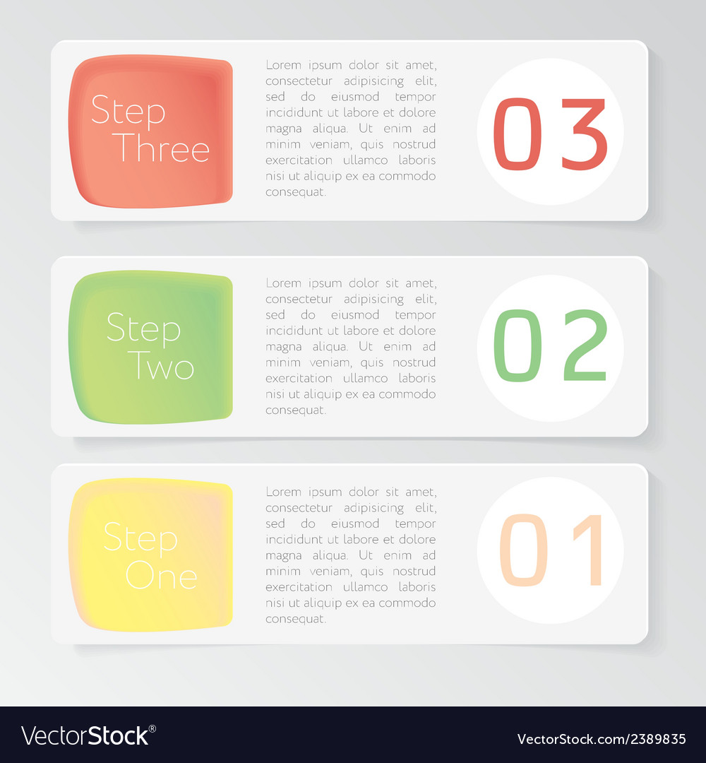 Design number banners template graphic or website vector | Price: 1 Credit (USD $1)