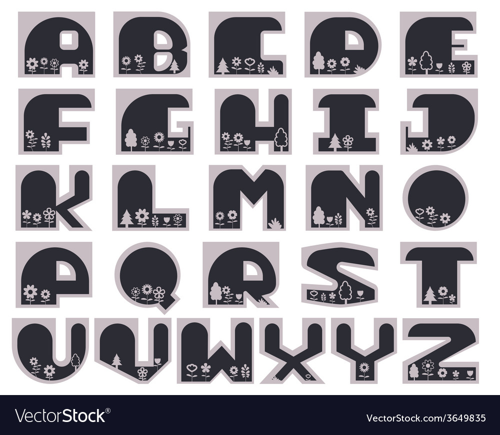 Geometric font vector | Price: 1 Credit (USD $1)