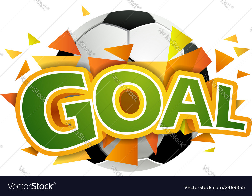 Goal with football ball vector | Price: 1 Credit (USD $1)