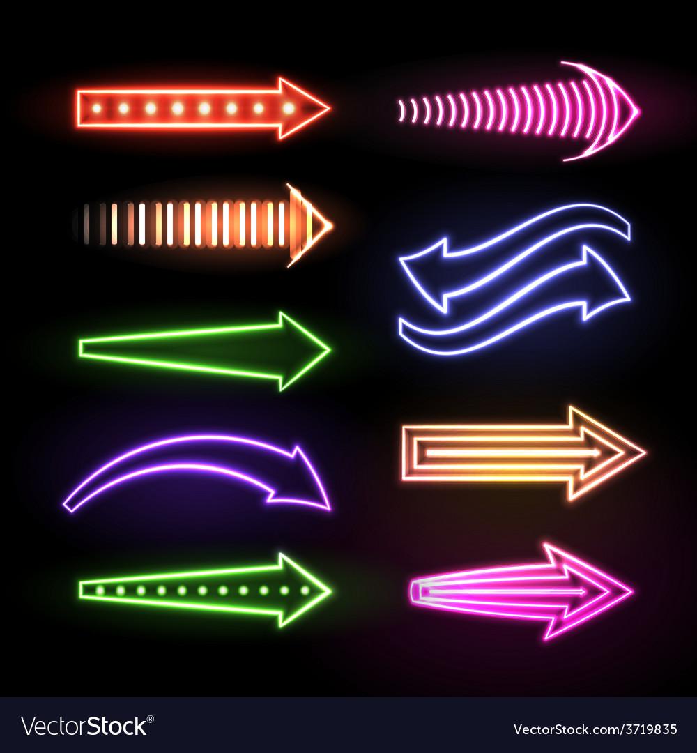 Neon arrows vector   Price: 1 Credit (USD $1)