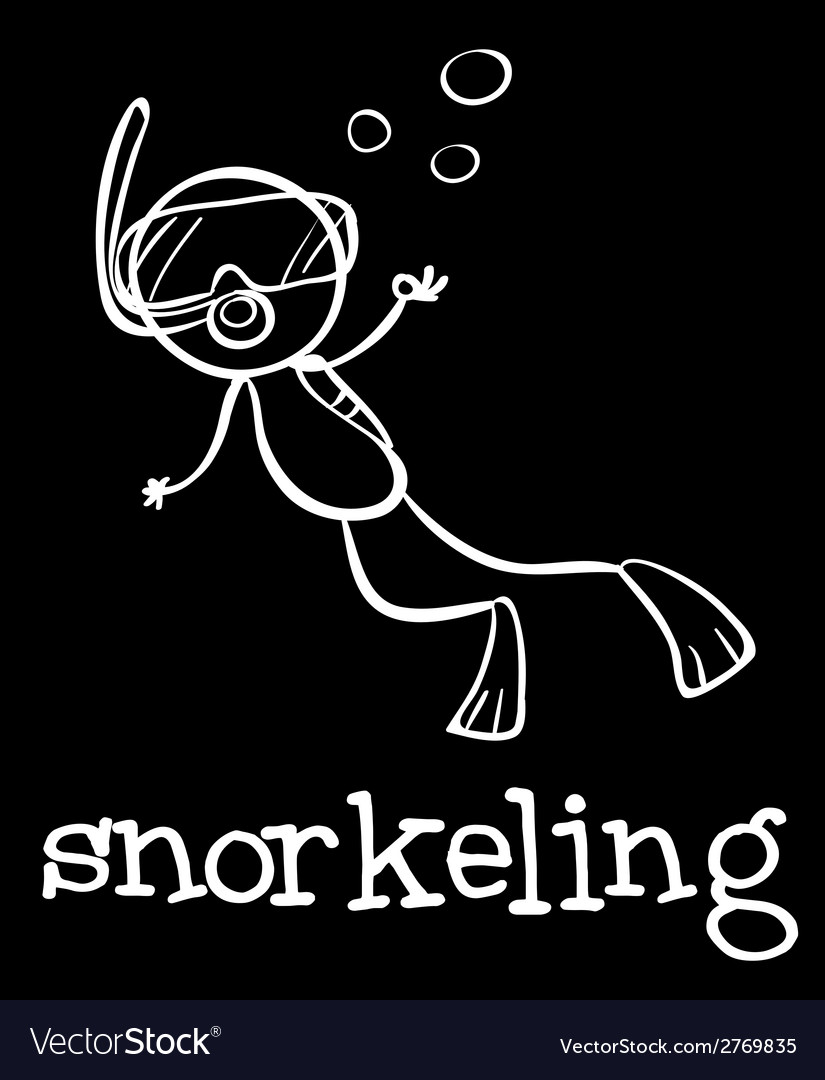 Snorkeling vector | Price: 1 Credit (USD $1)
