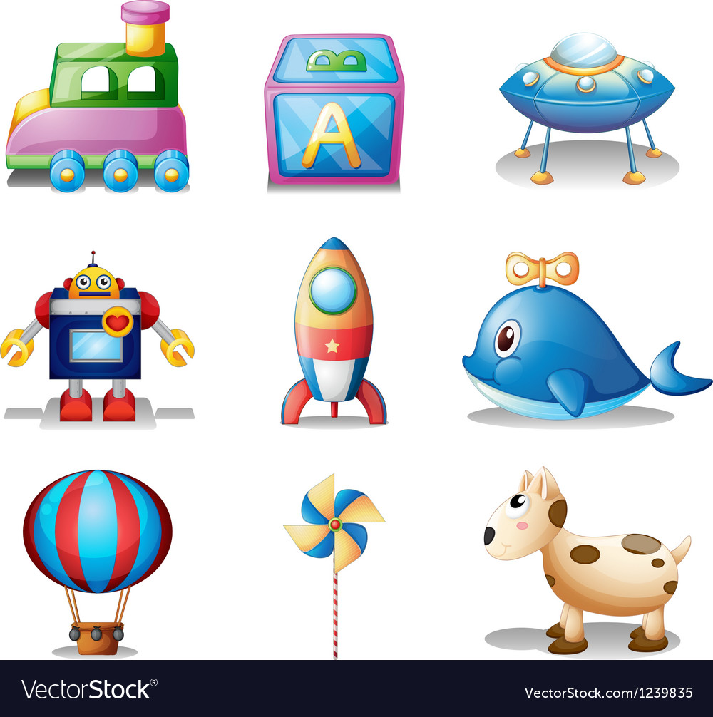 Toys for children vector | Price: 1 Credit (USD $1)