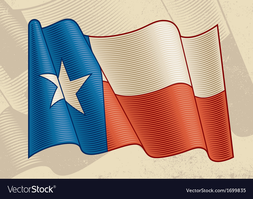 Vintage texas flag vector | Price: 1 Credit (USD $1)