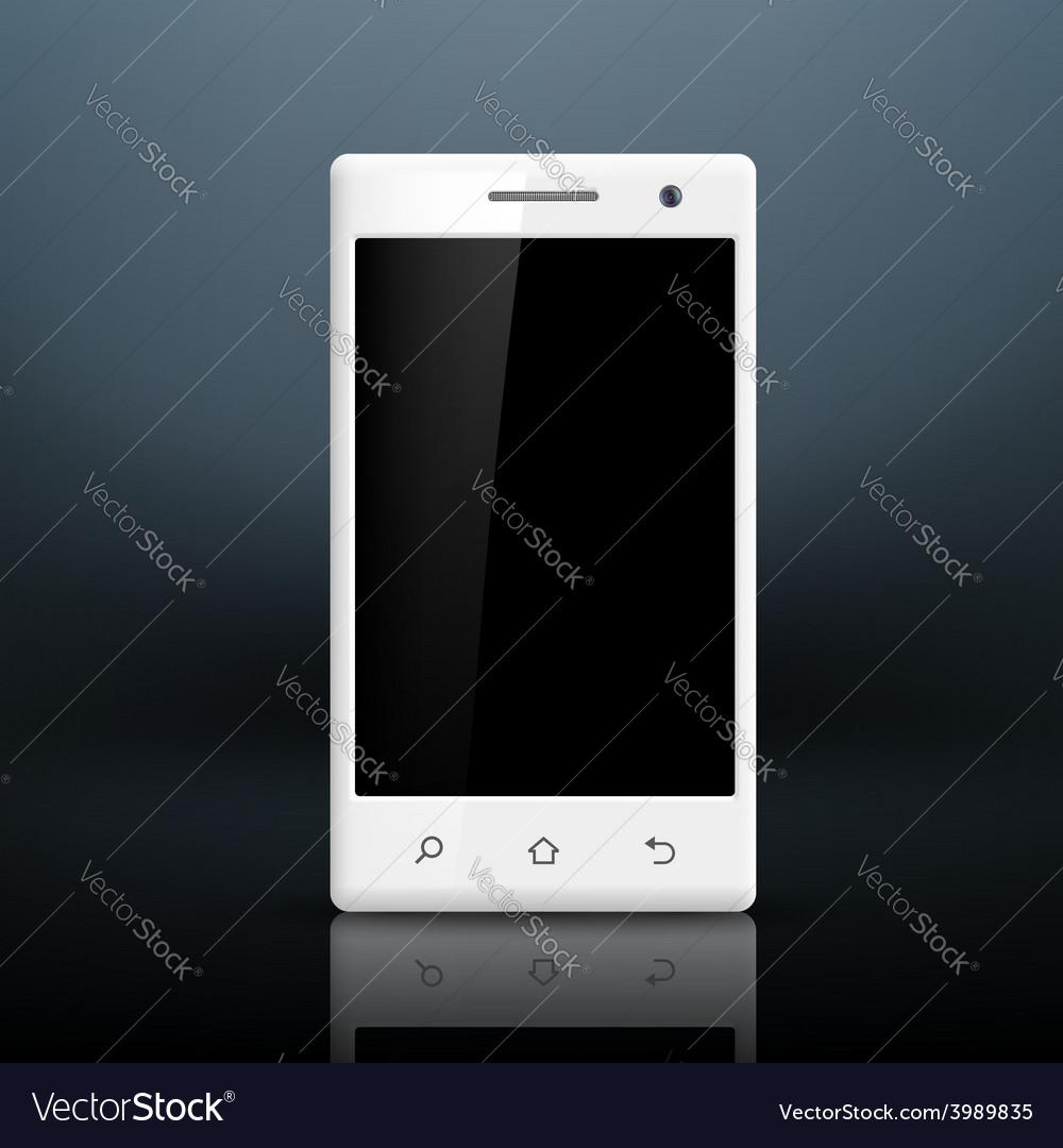 White smartphone vector | Price: 1 Credit (USD $1)