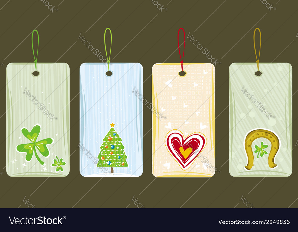 Color labels for holidays vector | Price: 1 Credit (USD $1)