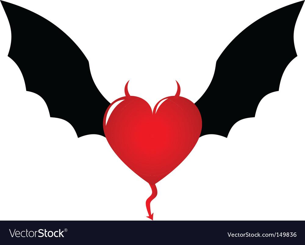 Demon heart vector | Price: 1 Credit (USD $1)