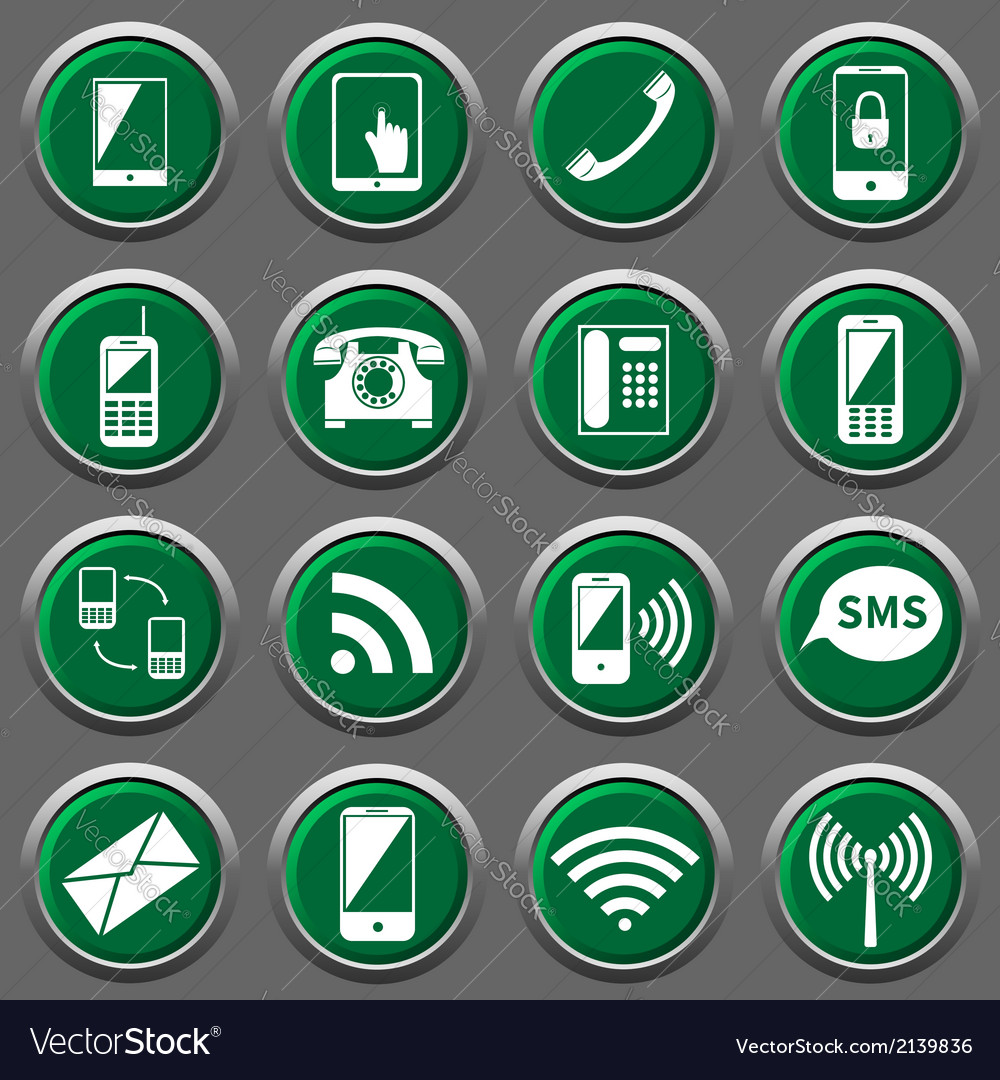 Phone icons vector | Price: 1 Credit (USD $1)