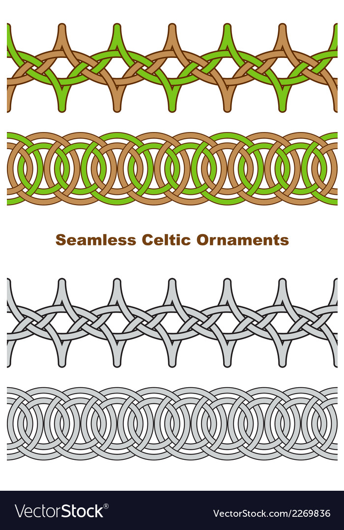 Seamless celtic borders vector | Price: 1 Credit (USD $1)