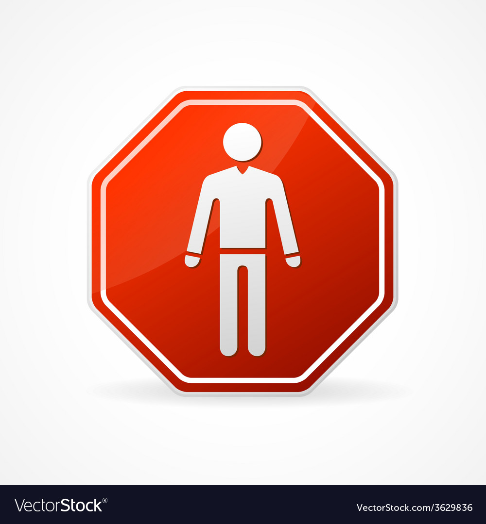 Sign no man on white background vector | Price: 1 Credit (USD $1)