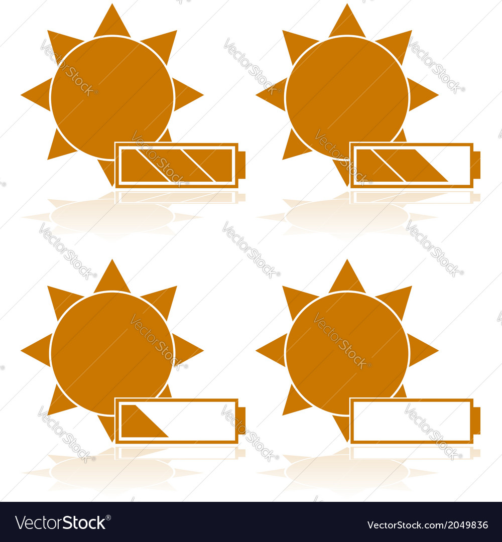 Solar power vector | Price: 1 Credit (USD $1)