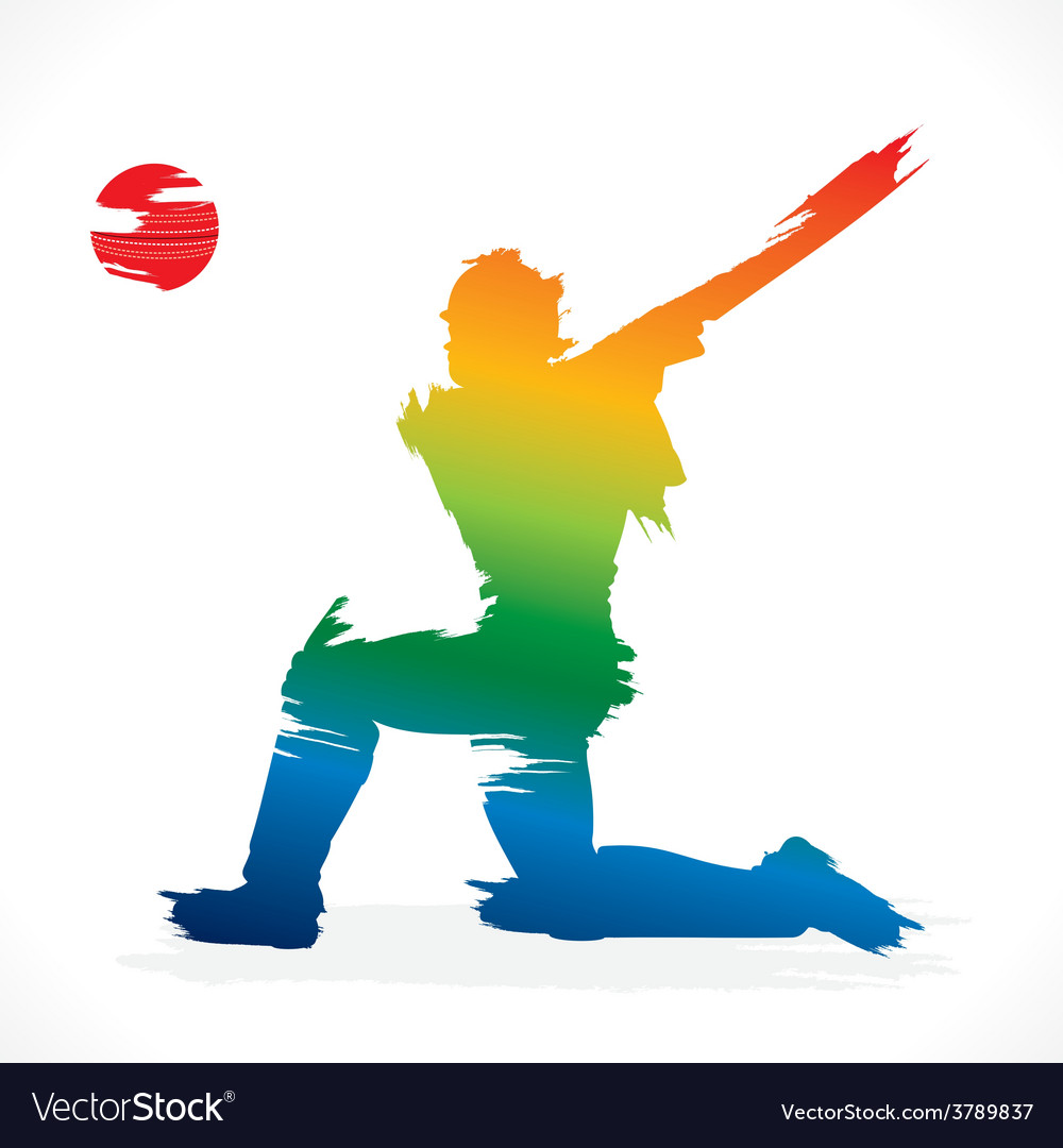 Batsmen hit the ball design vector | Price: 1 Credit (USD $1)