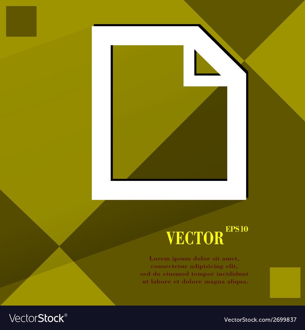 Blank paper flat modern web design on a flat vector   Price: 1 Credit (USD $1)
