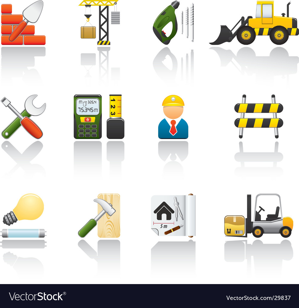 Construction icon set vector | Price: 3 Credit (USD $3)