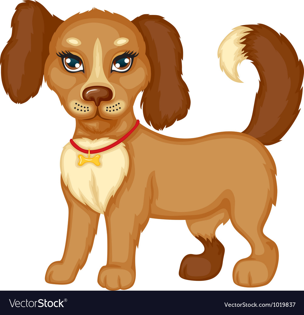 Dog stands vector | Price: 3 Credit (USD $3)