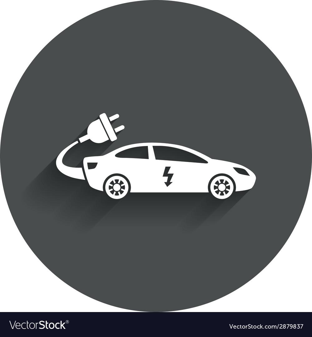 Electric car sign icon sedan saloon symbol vector | Price: 1 Credit (USD $1)