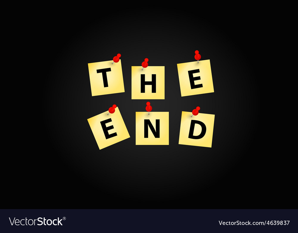 The end screen design template vector | Price: 1 Credit (USD $1)