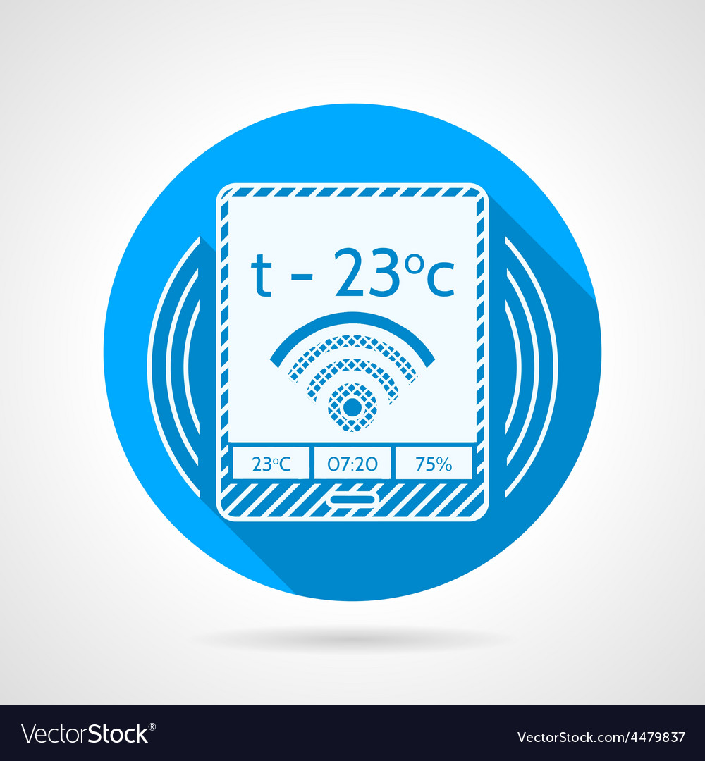 Heating remote controller icon vector | Price: 1 Credit (USD $1)