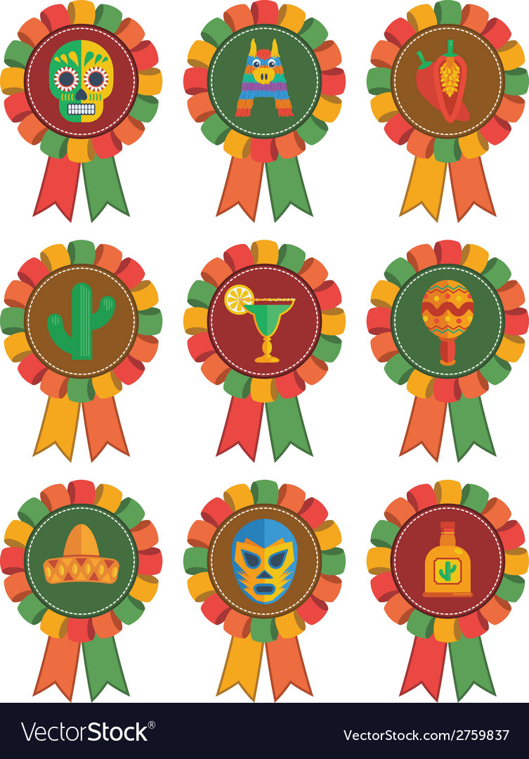 Mexican rosettes vector | Price: 1 Credit (USD $1)