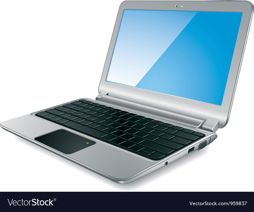 Modern laptop vector | Price: 3 Credit (USD $3)