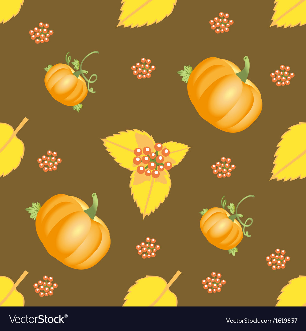 Seamless autumn vegetable pattern vector | Price: 1 Credit (USD $1)