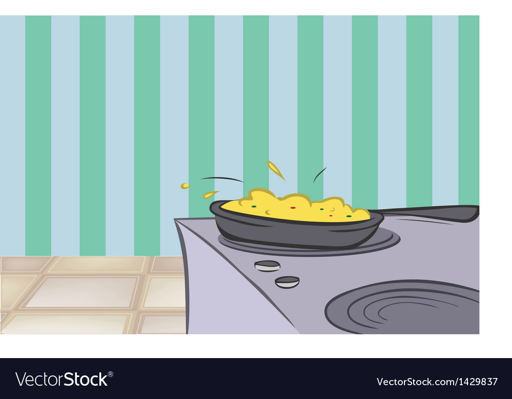 Stove and kitchen vector | Price: 1 Credit (USD $1)