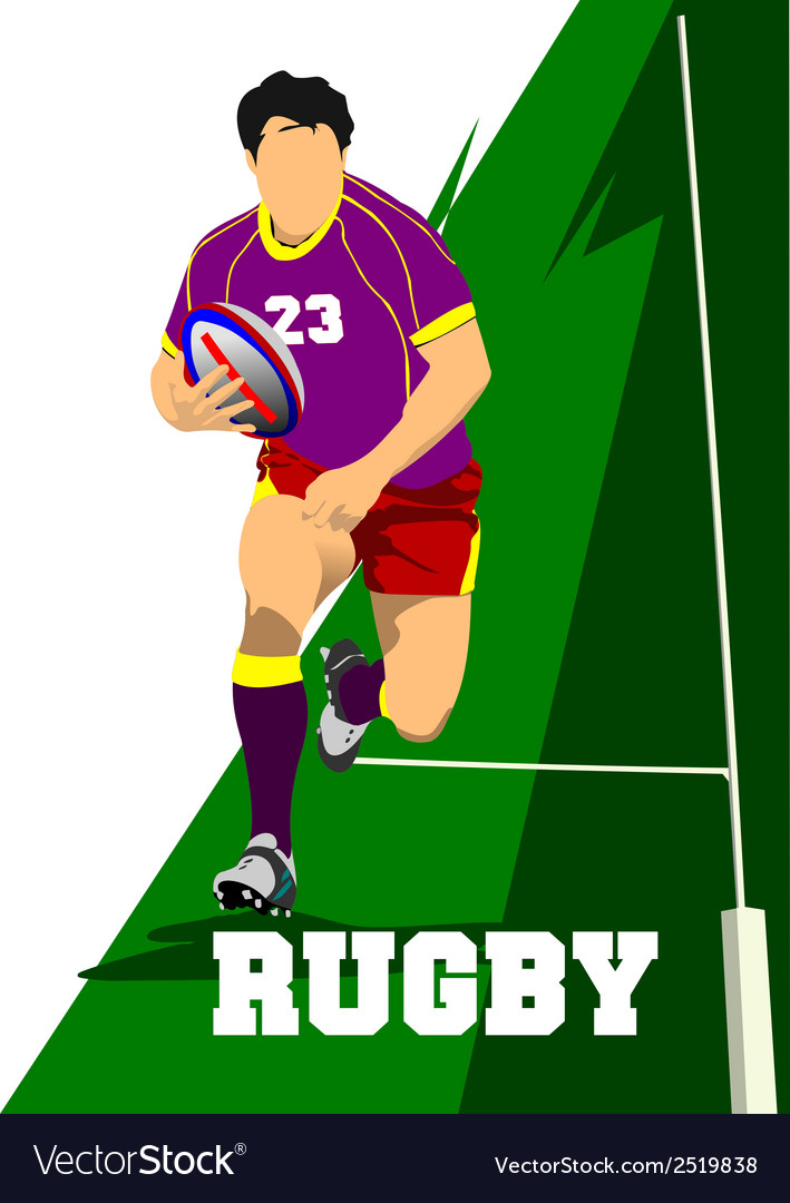 Al 0343 rugby 01 vector | Price: 1 Credit (USD $1)