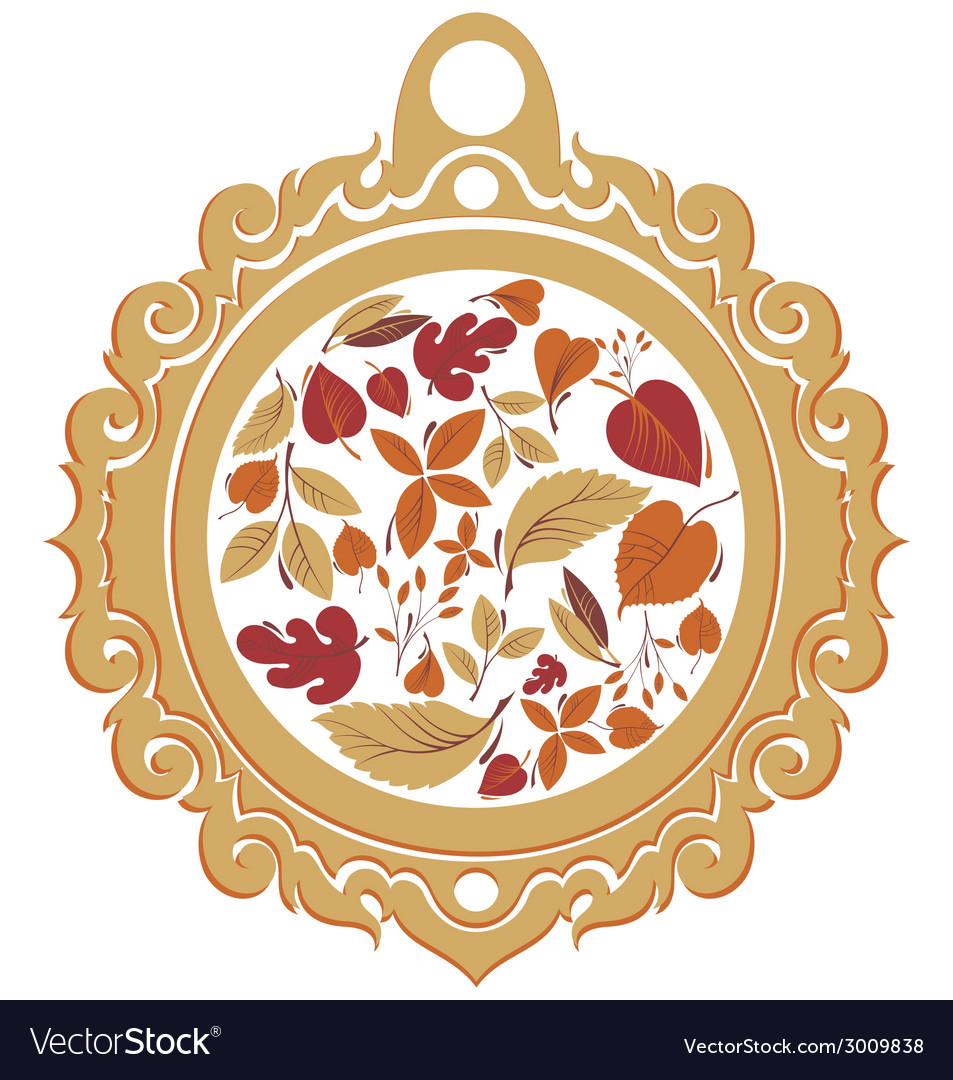 Autumn label vector | Price: 1 Credit (USD $1)