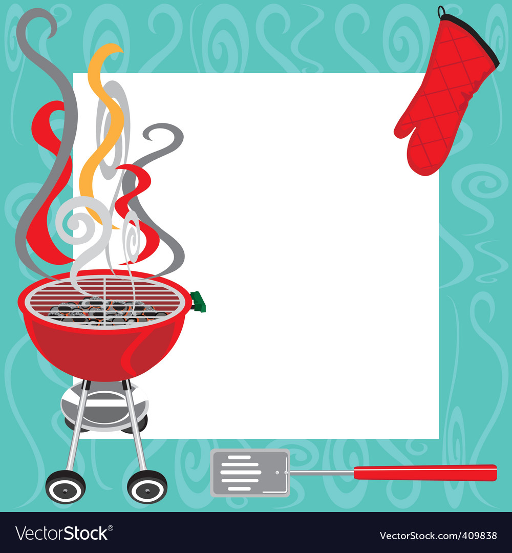 Bbq party invitation vector | Price: 3 Credit (USD $3)