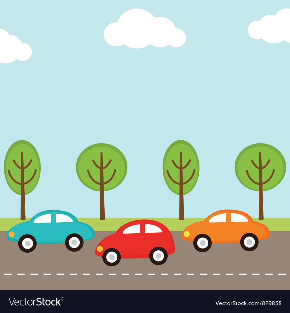 Cars background vector | Price: 1 Credit (USD $1)