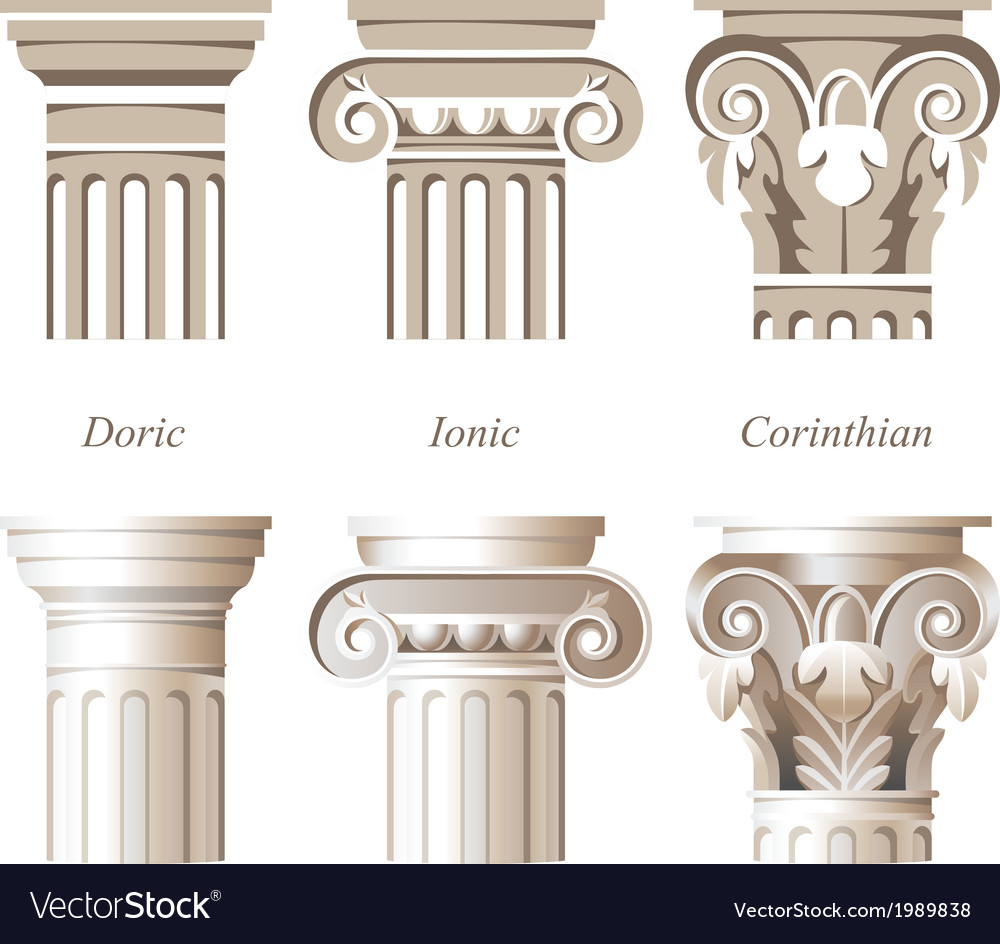 Columns icons vector | Price: 1 Credit (USD $1)