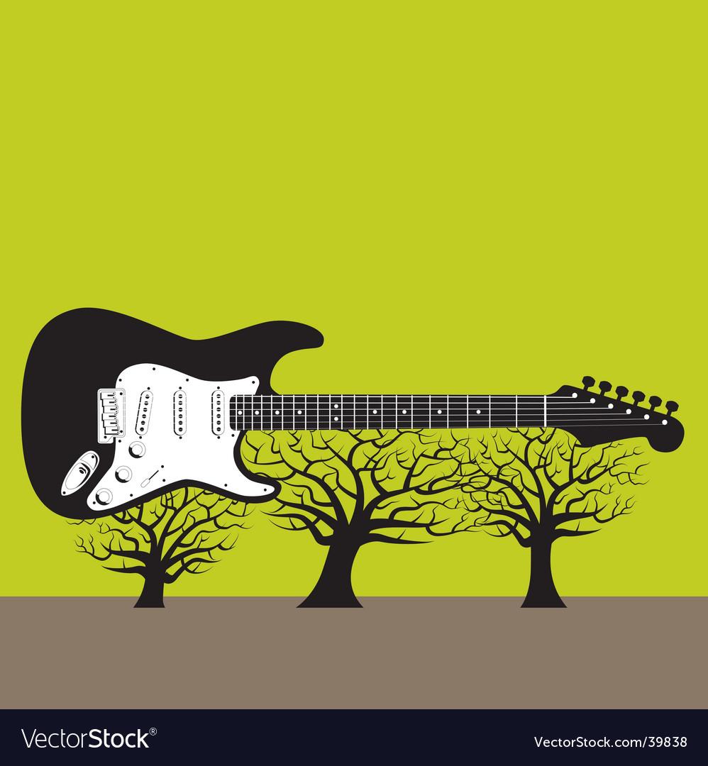 Guitar landscape vector | Price: 1 Credit (USD $1)