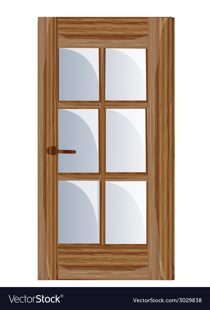 Interior apartment wooden door vector | Price: 1 Credit (USD $1)