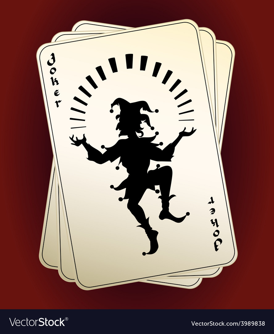 Joker silhouette on playing cards vector | Price: 1 Credit (USD $1)
