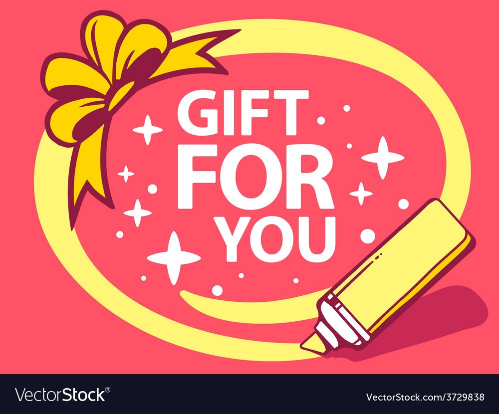 Marker drawing circle around gift for you vector   Price: 1 Credit (USD $1)