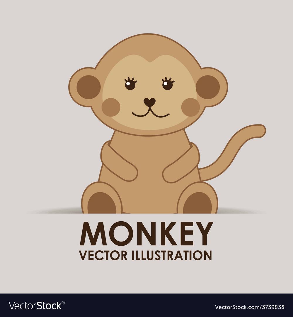 Monkey cute vector | Price: 1 Credit (USD $1)