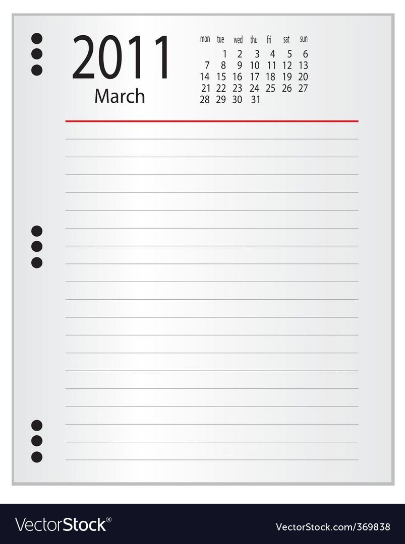 One page from a notebook vector | Price: 1 Credit (USD $1)