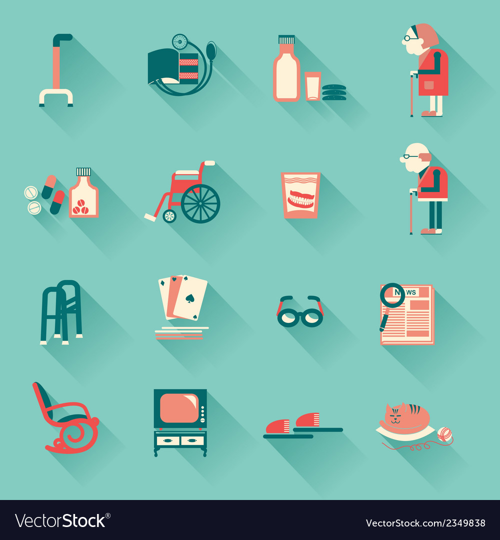 Special objects for pensioners life vector | Price: 1 Credit (USD $1)