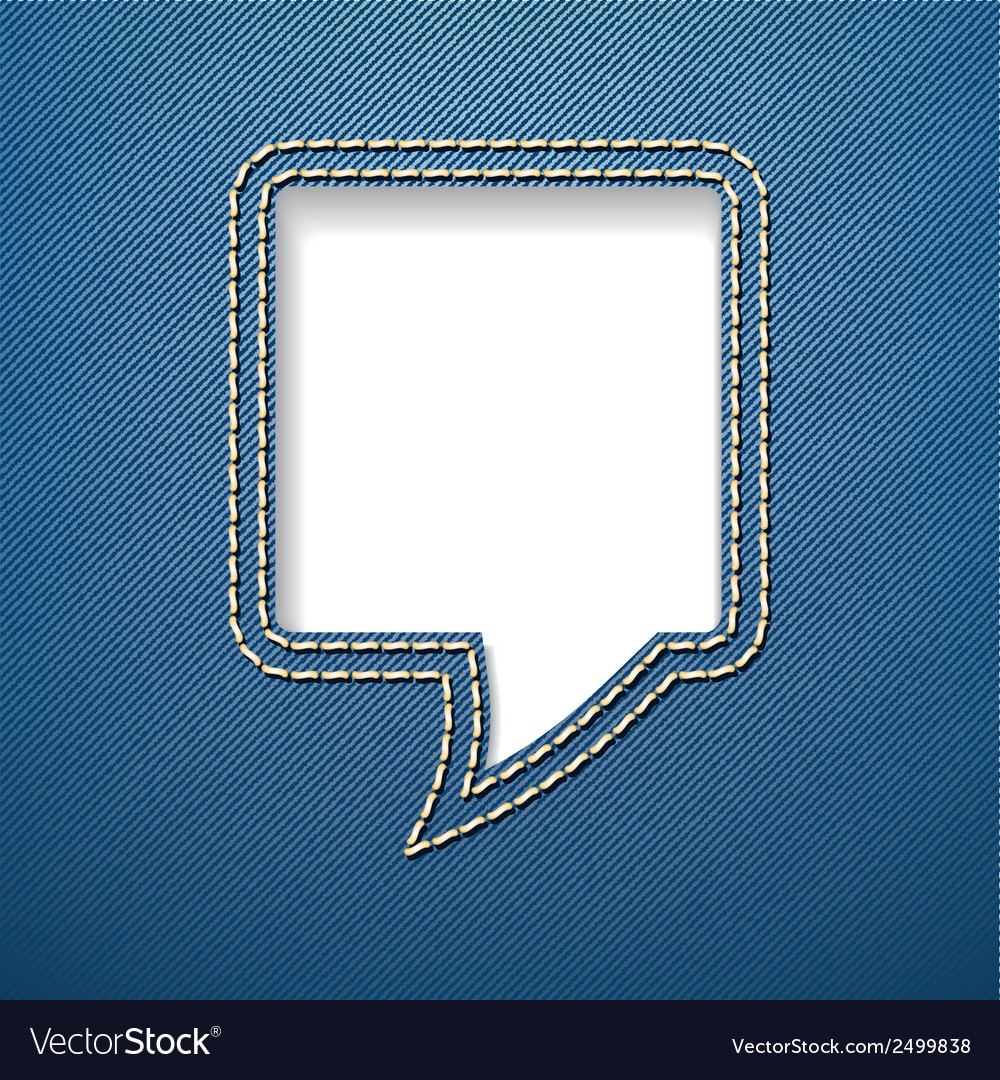 Speech bubble on jeans background vector | Price: 1 Credit (USD $1)
