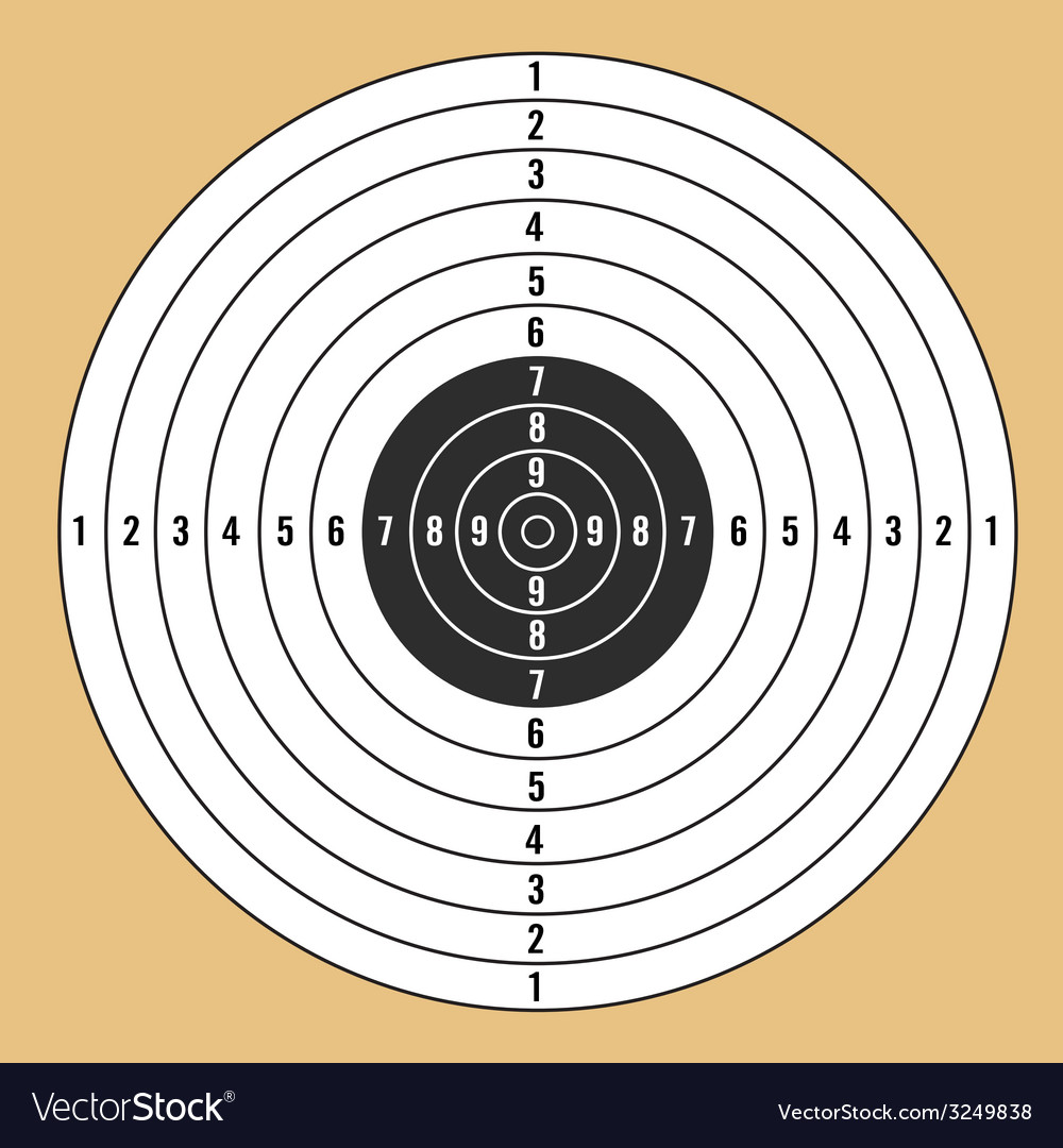 Target white vector | Price: 1 Credit (USD $1)