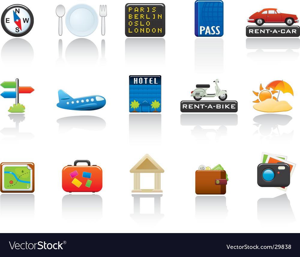 Travel icon set vector | Price: 3 Credit (USD $3)