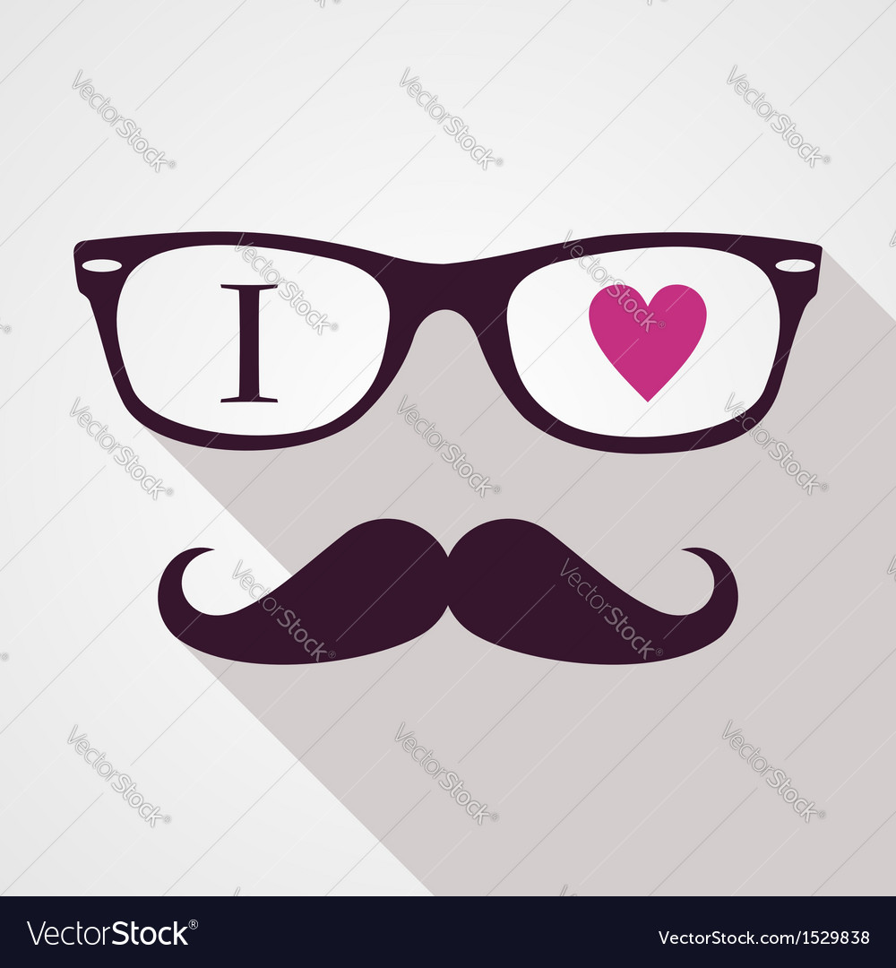 Vintage hipsters icons face vector | Price: 1 Credit (USD $1)
