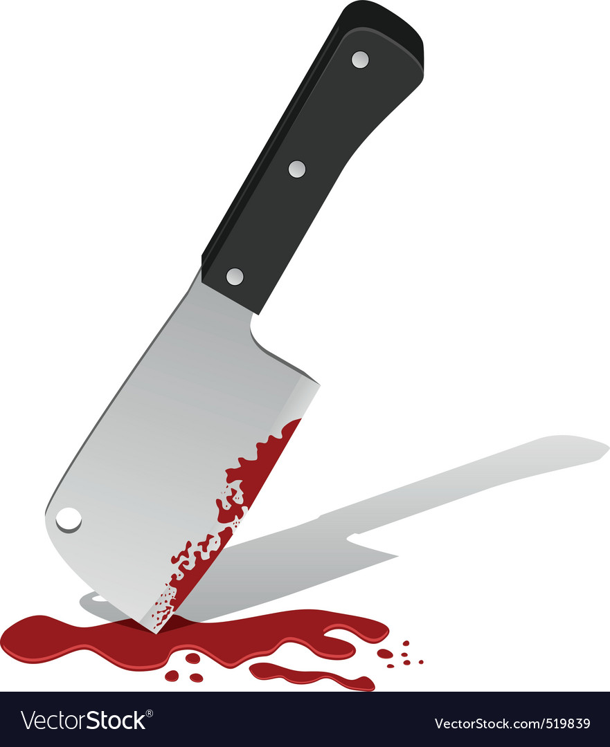 Big knife with blood vector | Price: 1 Credit (USD $1)